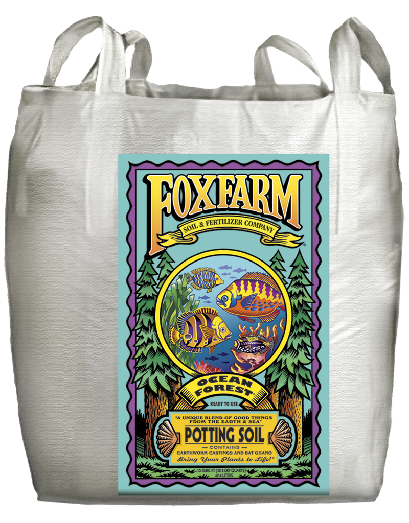 Brown 12 Quart Fox Farm FX14080 Ocean Forest Soil Bag